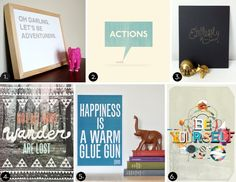 Affordable typographic prints! #roundup