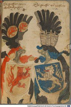 Ortenburger Wappenbuch Bayern, 1466 - 1473 Cod.icon. 308 u  Folio 67r