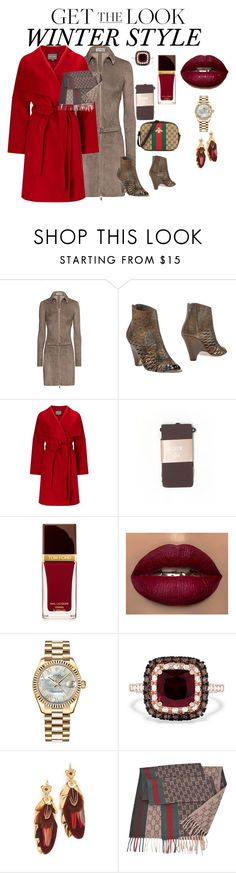 """winter style"" by ch3ll3y-styles ❤ liked on Polyvore featuring Jitrois, Strategia, Phase Eight, J.Crew, Tom Ford, Rolex, Effy Jewelry, Gas Bijoux and Gucci"