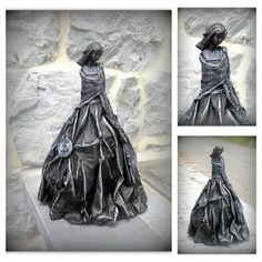 Paper Mache Sculpture, Sculpture Art, Art Clay, Genere, Statue, Flower Vases, Textile Art, Paper Flowers, Art Dolls