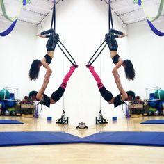 """#sacredgeometry #aerialhoop  #aerialistofig #aerialpartners  #vfdallas"" Aerial Gymnastics, Aerial Dance, Aerial Hoop, Aerial Arts, Aerial Silks, Pilates, Partner Acrobatics, Aerial Classes, Pole Tricks"