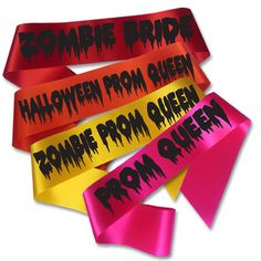 Zombie Prom Queen Sash, Fancy Dress Halloween Zombie Bride Costume Accessory | eBay