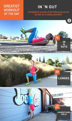 Greatist Workout of the Day: In 'n Out #fitness #bodyweight #workout