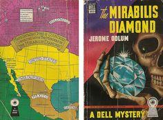 "Jerome Odlum ""The Mirabilis Diamond"" Dell Mapback #303; 1949 Christmas 12/20/14"