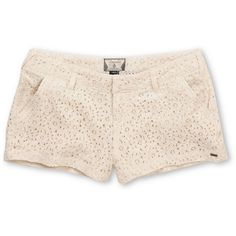"Volcom Girls Frochickie Laced Cream 2.5"" Shorts  $49.95"