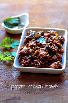 Chettinad Pepper Chicken Masala, Spicy Chicken Recipes - Edible Garden
