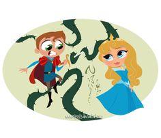 Más que Disney - [FAN ARTS] La Bella Durmiente - El pincel de Rapunzel