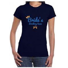 Tricou personalizat Bride drinking team
