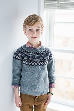Warm a dauntless Viking adventurer or a treasure hunter in search of seaboard… Diy Knitting Projects, Kids Knitting Patterns, Kids Patterns, Knitting For Kids, Baby Knitting, Brooklyn Tweed, How To Look Handsome, Baby Sweaters, Knit Sweaters
