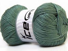 Baby AntiBacterial Hunter Green knitting yarn from ice yarn