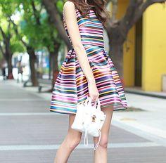 Stylish Striped Dress MX6121 on Luulla
