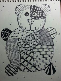 Bear zentangle doodle