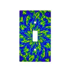 Flower and Swirls Mandala Light Switch Covers