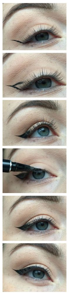 In-depth step-by-step tutorial demonstrating a foolproof method for creating supersharp cat-eye wings by lylhrs.