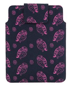 What Kate Did Next By Kate Sheridan Navy Owl Print iPad Cover