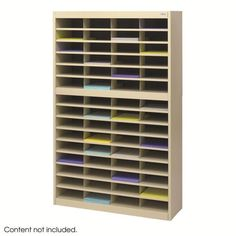 Safco 9231TSR E-Z Stor® Literature Organizer, 60 Letter Size Compartments