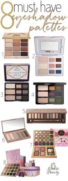 Makeup Wars: Must Have Makeup Palettes via 15MinuteBeauty.com