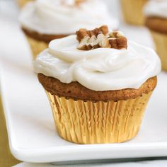 Pecan Recipes: Sweet Potato-Pecan Cupcakes