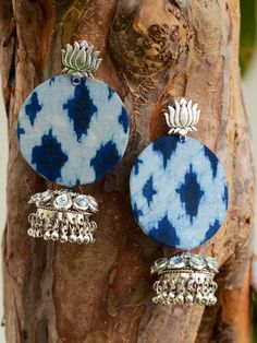 Can Sterling Silver Rings Be Resized Diy Fabric Jewellery, Fabric Earrings, Thread Jewellery, Textile Jewelry, Indian Jewelry Earrings, Jewelry Design Earrings, Diy Earrings, Silver Jewelry, Silver Ring