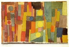 Paul Klee, 1914 first abstract painting inspired by his trip to Tunisia