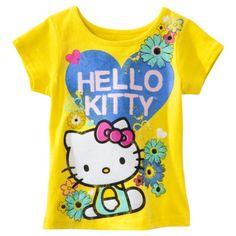 Hello Kitty Infant Toddler Girls' Short-sleeve Tee - Yellow
