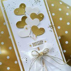 Bryllupskort i gull og hvitt  #wedding #weddingcard #whiteandgold #card #cardmaking #scrapping#instacraft  #papercraft #craft #kortlaging #kort #bryllupskort #bryllup #madebyme #DIY