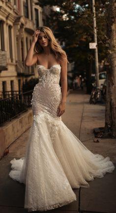 Style 17-110, Berta Bridal strapless tulle wedding dress #wedding #dress