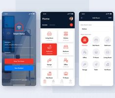 Smart Home Controller mobile app concept - Design Template Place Mobile Ui Design, App Design, Whole Home Audio, House App, App Home, Gadgets, Home Automation System, Mobile App Ui, Gift Finder