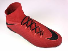 SR4U Black Reflective Soccer Laces on Nike Hypervenom Phatal 3 Fire and Ice Pack