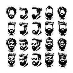 Beard Barber Shop by ModalTampang on Logo Barbier, Logo Abstrait, Logo Boutique, Gentleman Haircut, Beard Logo, Hair And Beard Styles, Hair Styles, Barber Logo, Beard Barber