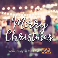 #MerryChristmas from all of us at Study in the USA & StudyUSA.com!