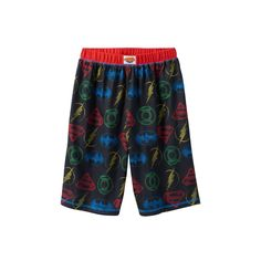 Boys 4-16 DC Comics Justice League Lounge Shorts, Boy's, Size: 10-12, Black