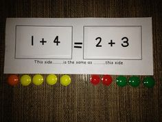 """The Meaning of the Equal Sign. common core standard """"Understand the meaning of the equal sign, and determine if equations involving addition and subtraction are true or false. Classroom Freebies, Math Classroom, Kindergarten Math, Teaching Math, Classroom Ideas, Future Classroom, Teaching Tools, Teaching Ideas, Preschool"""