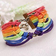 LGBT Bracelet, Lesbian Pride Jewelry, Rainbow Pride Bracelet & Perfect Lesbian Gifts -Free Shipping
