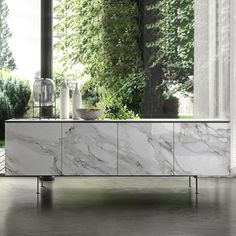 Contemporary design, minimal look and timeless materials. The Armor sideboard combines the luxury of the ceramic with the elegant simplicity of an urban design. #milanode #furniture #diningroom #sideboard #storage #modern #minimal #contemporary #urban #timeless #unique #quality #design #decoration