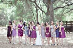Time for our latest rundown of gorgeous looks for your bridesmaids, and today we've come over all autumney with a line-up of berry and jewel toned dresses in the prettiest shades of purple, l…