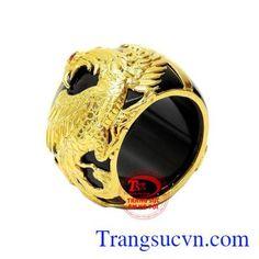 Nhẫn Ngọc Rồng Vàng - Nhẫn Nam Đẹp - TRANG SỨC NAM - Công Ty Trang Sức Em Và Tôi -Trangsucvn.com