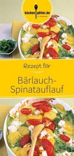 Rezept für Bärlauch-Spinatauflauf