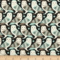 Designed by Joel Dewberry for Free Spirit, this cotton print is perfect for quilting, apparel and home decor accents.  Colors include cream, black, aqua and taupe-grey.