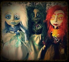 ooak doll gothic doll art doll posable doll by MiserableMoppets