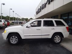 Hoping this will be my next vehicle. 2010 4x4 white Jeep Grand Cherokee limited edition with leather and SEAT warmers!!