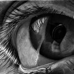hg art made this amazing eye drawing using graphite on our bristol