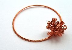Statement Necklace With Copper Chrysanthemum by IacobJewelry on Etsy Chrysanthemum, Statement Jewelry, Copper, Trending Outfits, Unique Jewelry, Bracelets, Handmade Gifts, Gold, Etsy