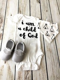 I am a child of god baby boy onesie. My Bebe, Boy Onesie, Onesie Diy, Baby Bodysuit, Cute Baby Clothes, Babies Clothes, Diy Clothes, Clothes Sale, Baby Boy Fashion
