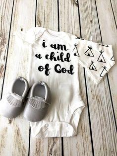 I Am A Child of God Baby Boy Onesie