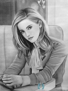 Emma Watson by rosene547 on DeviantArt  <br> Pencil Drawings Of Flowers, Pencil Drawing Tutorials, Drawing Ideas, Girl Drawing Sketches, Cool Drawings, Emma Watson Sketch, Pencil Portrait Drawing, Pencil Art, Harry Potter Drawings