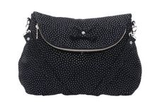 Black suede leather bag with silver dots by MONAObags on Etsy