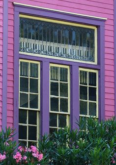 """The """"Pink"""" House near Forsyth Park in Savannah, Georgia (Not to be confused with The Olde Pink House restaurant on Reynolds Square)"""