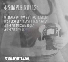 4 Simple exercise rules. #exercise #arthritisexercise www.jymfit.com