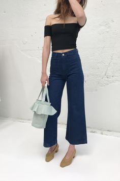 You had us at ankle-cut flare. The fit everyone is yearning for combined with the color nobody can get ...